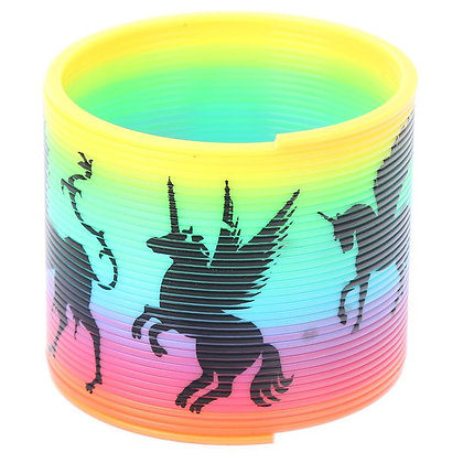 Enchanted Unicorn Rainbow Spring Toy (Slinky)