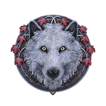 Guardian of The Fall Wolf Wall Plaque - 29cm - Lisa Parker