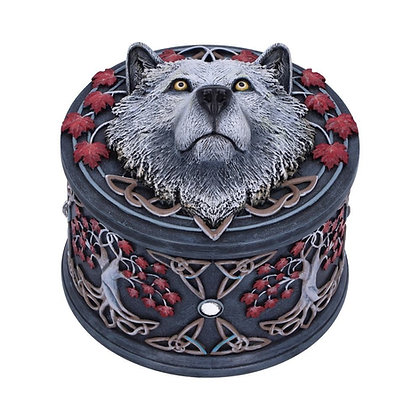 Guardian of The Fall Wolf Box - 11cm - Lisa Parker