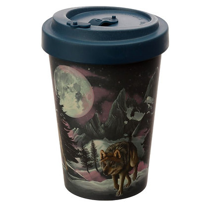 Wolf Reusable Bamboo Travel Mug