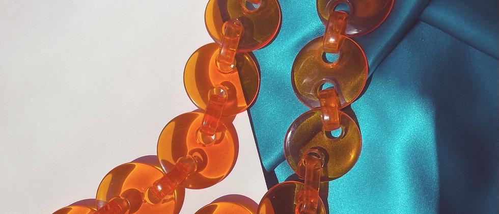 Futuristic orange necklace from the 60s