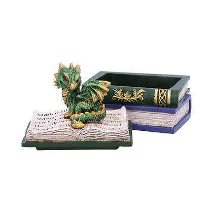Green Dragonling Diaries Box 11.3cm