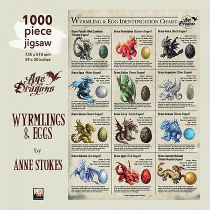 Wyrmlings & Eggs Jigsaw Puzzle - Anne Stokes