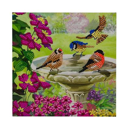 Birds Crystal Art Card Kit