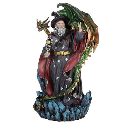 Spirit of The Sorcerer - Dragon Wizard Ornament - 23cm