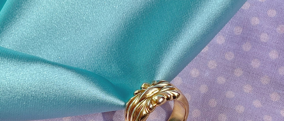 18kt gold-plated design band ring