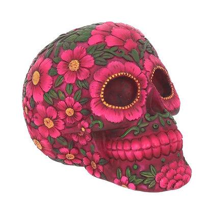 Sugar Blossom Skull Ornament 14.5cm