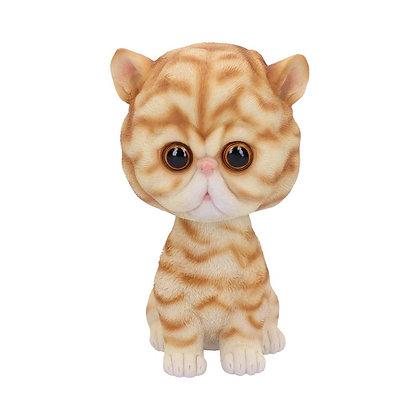 Bob Puss Ginger Striped Bobble Head Cat Ornament - 15cm