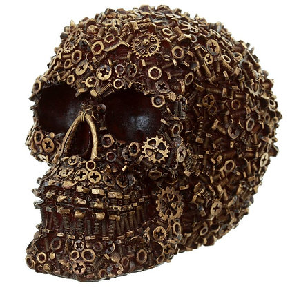 Nuts, Bolts and Screws Skull Ornament - 12cm