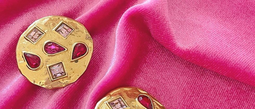 Yves Saint Laurent pink and gold clips