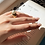 Thumbnail: Nice 18kt gold-plated silver ring with pearl