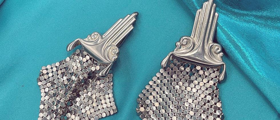 Rare 80s mesh earrings