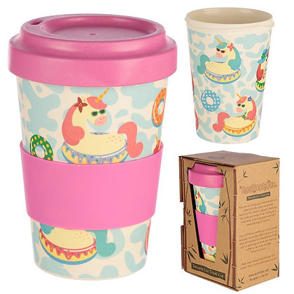 Vacation Vibes Unicorn Reusable Bamboo Travel Mug