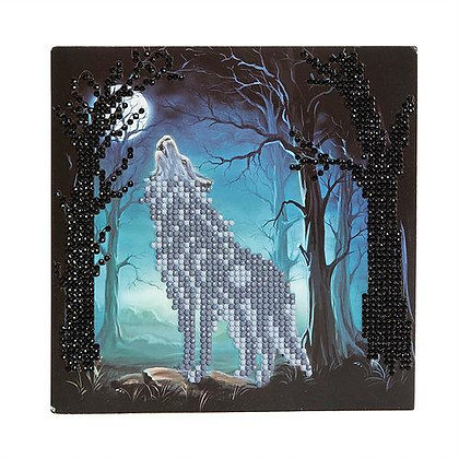 Howling Wolf Crystal Art Card Kit