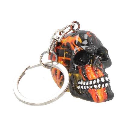 Inferno Skull Keyring 5cm