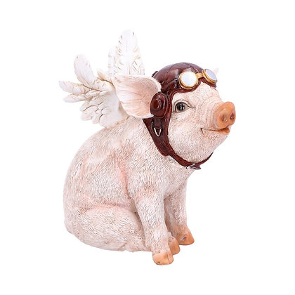 When Pigs Fly Steampunk Ornament - 15.5cm