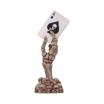 Ace Up Your Sleeve Skeletal Hand and Card Ornament - 18.4cm