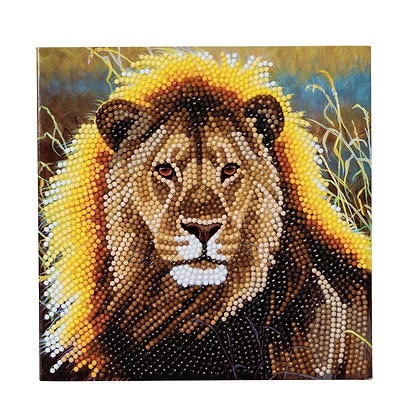 Resting Lion Crystal Art Card Kit