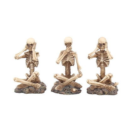Three Wise Skeleton Ornaments - 8.5cm