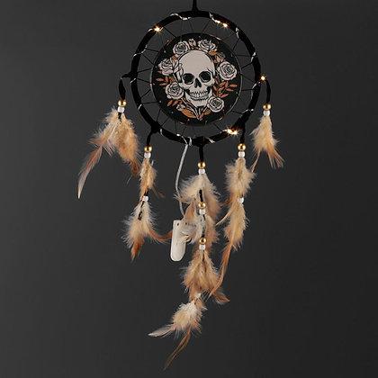 Skull and Roses LED Dreamcatcher - 16cm