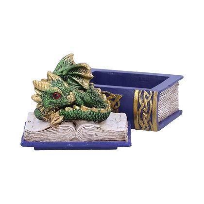 Green Bedtime Stories Dragon Book Box 8cm