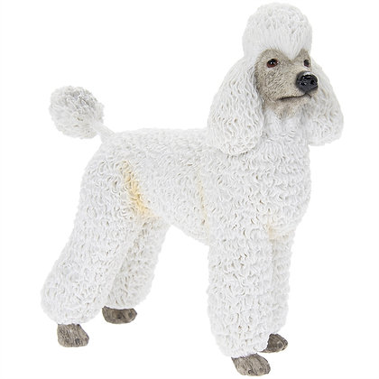 Leonardo White Poodle Dog Ornament