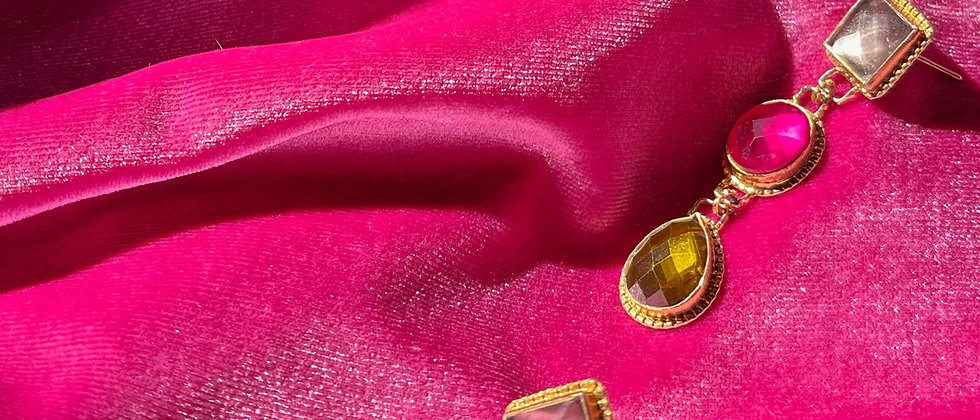 Splendid colorful quartz earrings