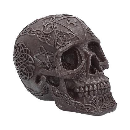 Celtic Iron Skull Ornament 16cm