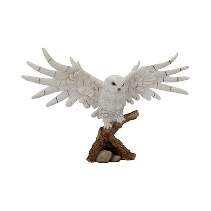 Snowy Rest Owl Ornament - 38cm