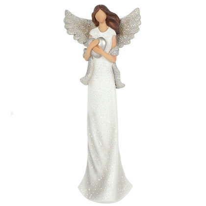 Amara Glitter Angel Ornament