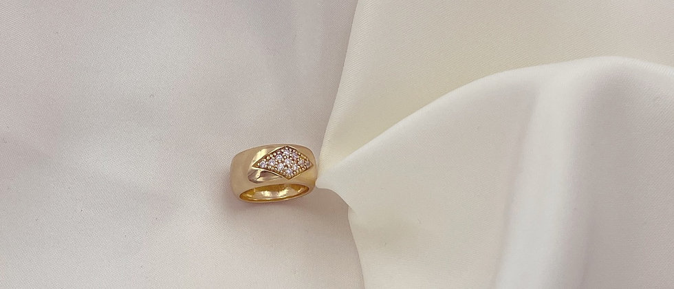18kt gold-plated band ring