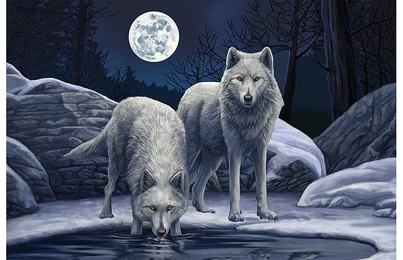 Warriors of Winter Wolves 3D Jigsaw Puzzle 150Pcs - Lisa Parker