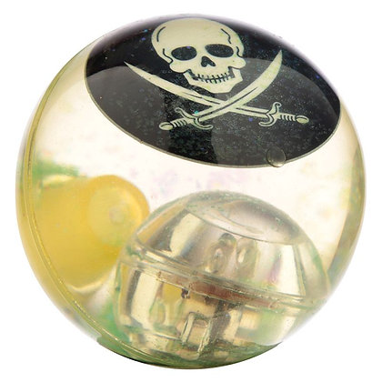 Pirate Skull and Crossed Swords Flashing Bouncy Ball 5.5cm