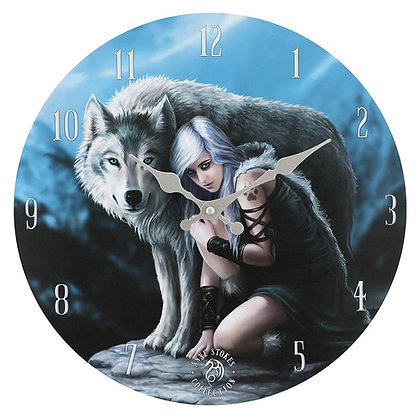 Protector Wolf Wall Clock - Anne Stokes