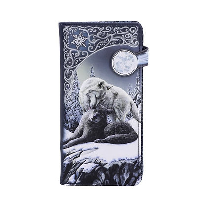 Snow Kisses Wolf Embossed Purse 18.5cm - Lisa Parker