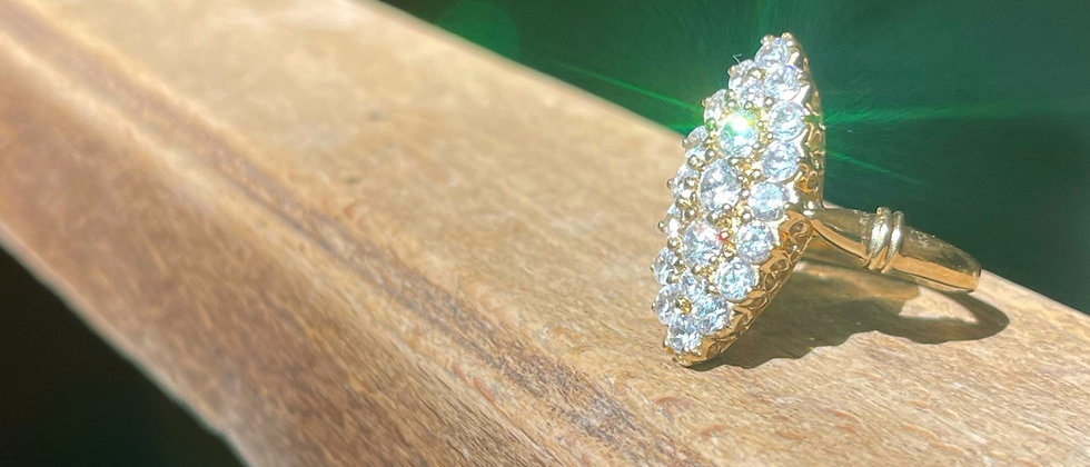 """18kt goldplated """"marquise"""""""