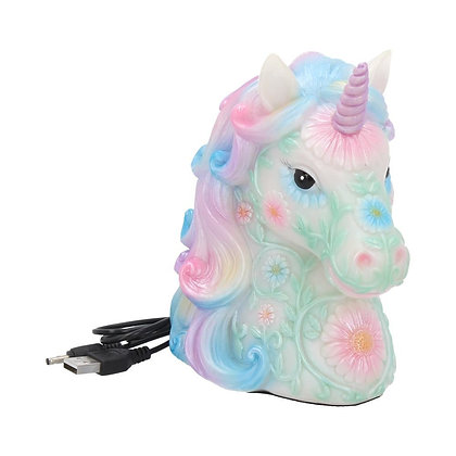 Light Up Rainbow Unicorn Ornament - 18cm