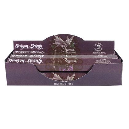 20 Dragon Beauty Amber Incense Sticks - Anne Stokes