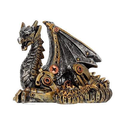 Mechanical Hatchling Steampunk Dragon Ornament - 11cm
