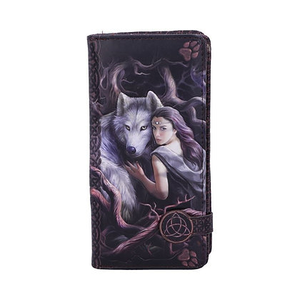 Soul Bond Wolf Embossed Purse 18.5cm - Anne Stokes
