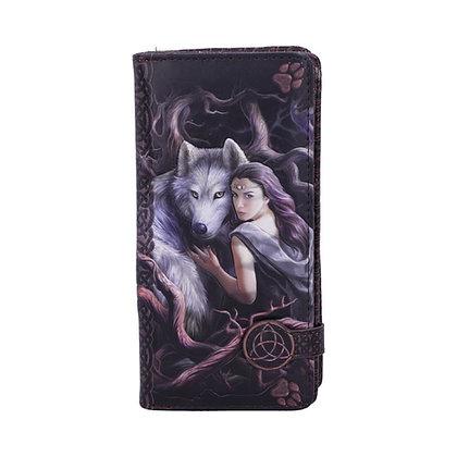 Soul Bond Wolf Embossed Purse 18.5cm - Anne Stokes