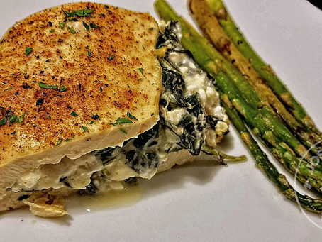 Spinach and Feta Stuffed Chicken Breast