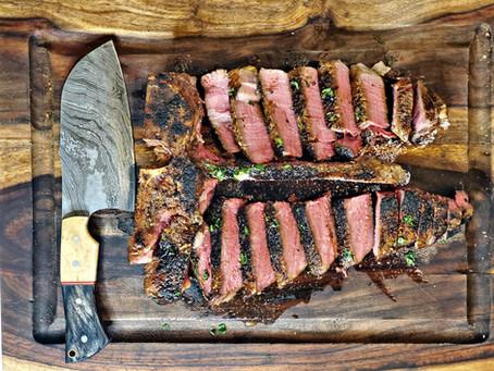 Sous Vide-Que Porterhouse or Ribeye Steak