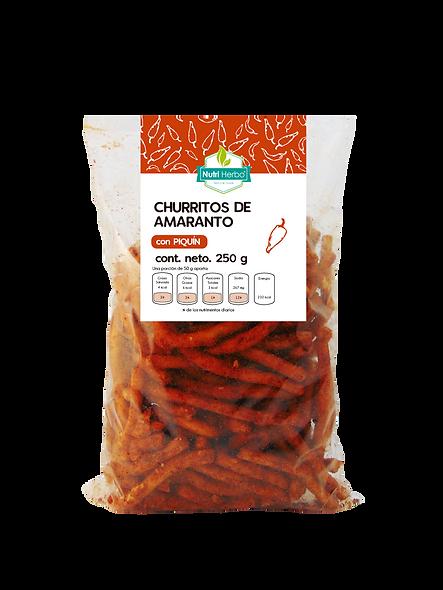 Churritos de Amaranto con Piquín
