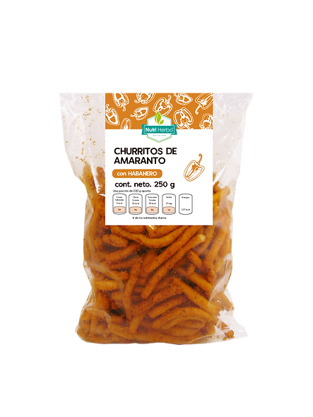 Churritos de Amaranto con Habanero