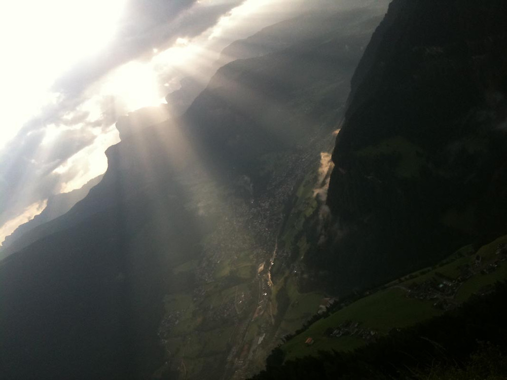 Let the light shine on your ideas whatever you might be doing - hiking above Ortisei, Northern Italy