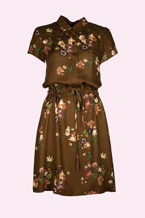 Kleid Martha - Blumen braun