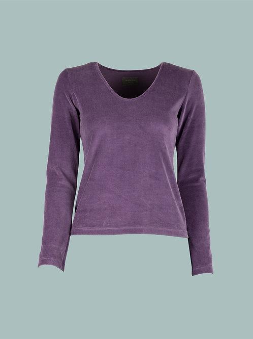 V-Shirt - lila flieder