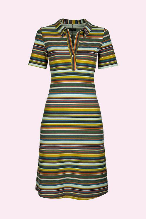 Polo Kleid - Retro Streifen
