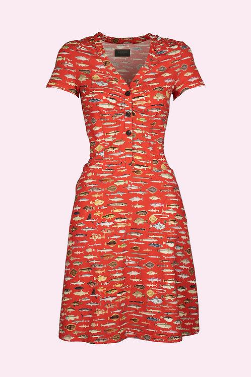 Kleid Rosie - Fische